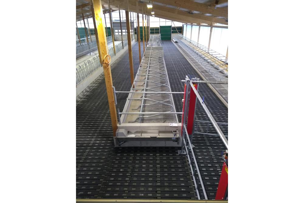 MeadowFloor onlangs gemonteerd op Gut Hülsenberg in Wahlstedt, Duitsland